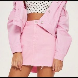 Topshop  Moto Bubble Gum Pink skirt